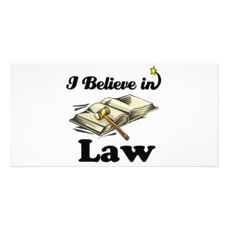 i believe in law photo card template