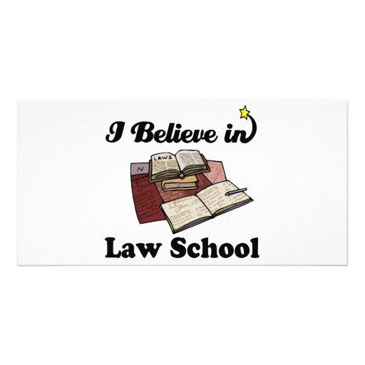i believe in law school custom photo card