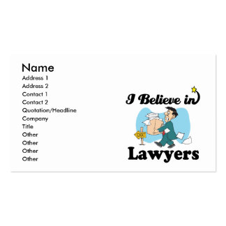 i believe in lawyers business card templates