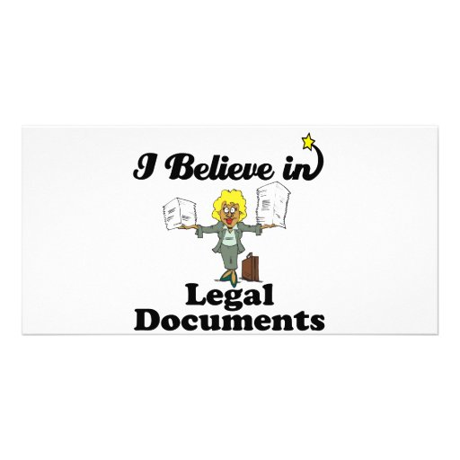 i believe in legal documents photo cards