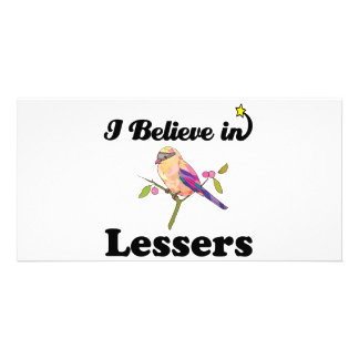 i believe in lessers customized photo card