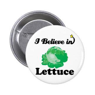 i believe in lettuce 6 cm round badge