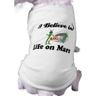i believe in life on mars sleeveless dog shirt