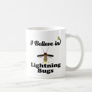 i believe in lightning bugs coffee mug