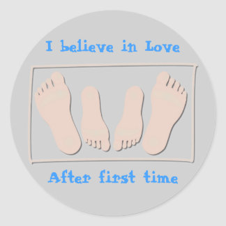 I believe in Love, After first time Round Sticker