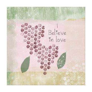 I Believe in Love Canvas Print