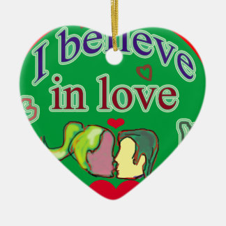 I believe  in love ceramic heart decoration