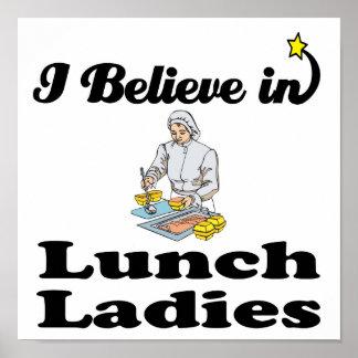i believe in lunch ladies print