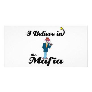 i believe in mafia customized photo card