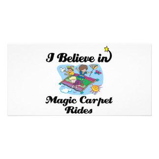 i believe in magic carpet rides photo card template