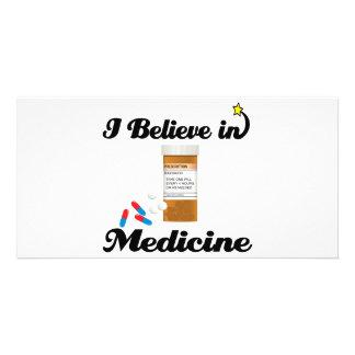 i believe in medicine photo card template
