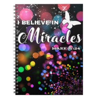 I believe in miracles notebook