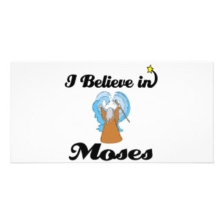 i believe in moses photo card template