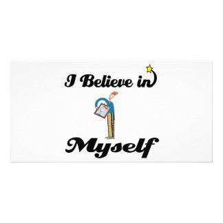i believe in myself customized photo card