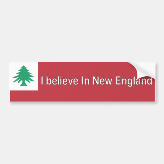 I Believe in New England Bumper Sticker