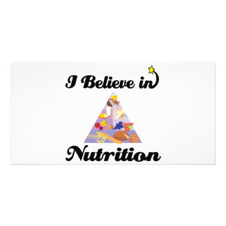 i believe in nutrition photo greeting card