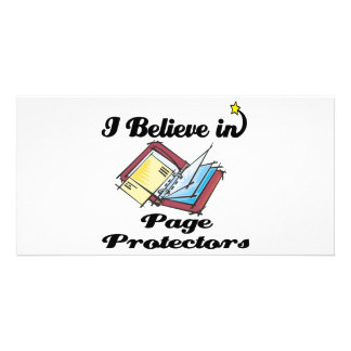 i believe in page protectors picture card