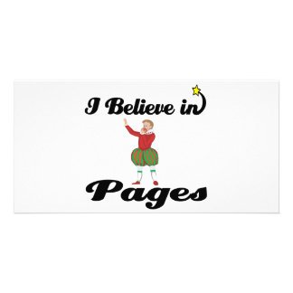 i believe in pages photo greeting card