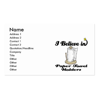 i believe in paper towel  holders business card