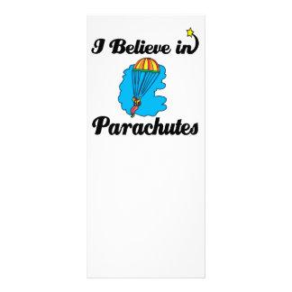 i believe in parachutes 10 cm x 23 cm rack card