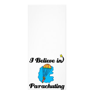 i believe in parachuting customized rack card