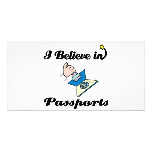 i believe in passports custom photo card