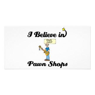 i believe in pawn shops custom photo card