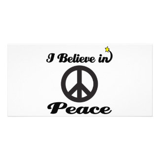 i believe in peace photo cards