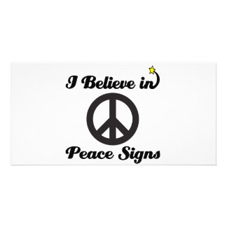 i believe in peace signs photo greeting card
