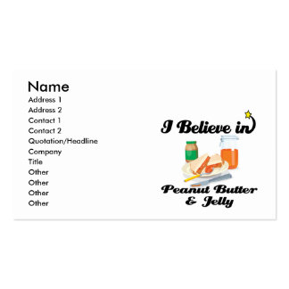i believe in peanut butter and jelly business card template