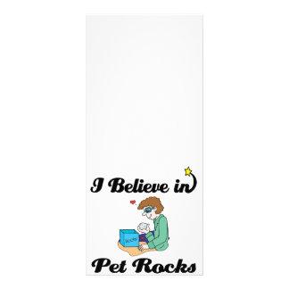 i believe in pet rocks rack cards
