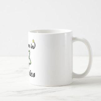 i believe in physics basic white mug