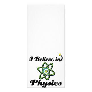 i believe in physics rack card