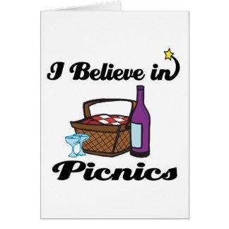 i believe in picnics card