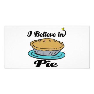 i believe in pie picture card