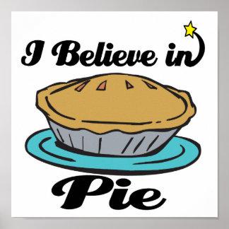 i believe in pie poster