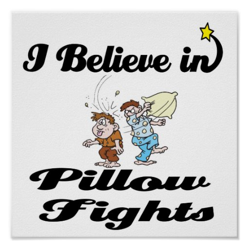 i believe in pillow fights posters
