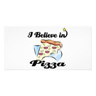 i believe in pizza photo card template