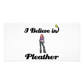 i believe in pleather picture card
