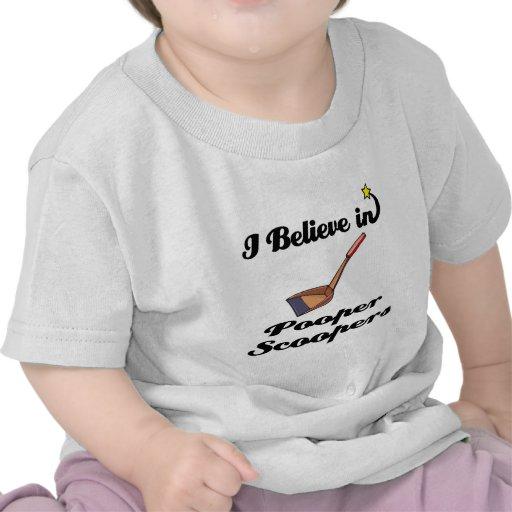 i believe in pooper scoopers shirt