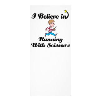 i believe in running with scissors boy 10 cm x 23 cm rack card