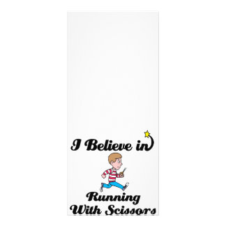 i believe in running with scissors boy rack cards