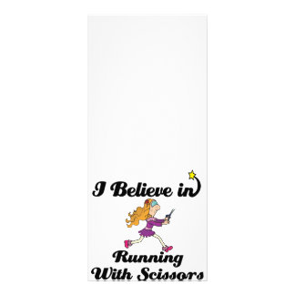 i believe in running with scissors girl customized rack card