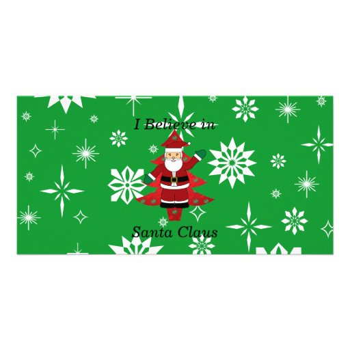 I believe in santa claus gifts photo greeting card
