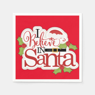 I Believe In Santa Disposable Serviettes
