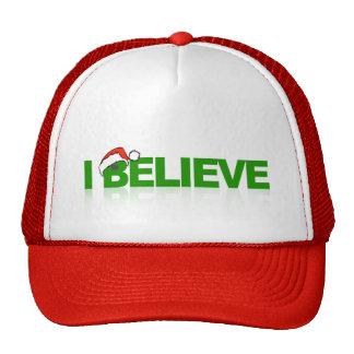 I Believe in Santa Mesh Hat