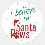 I Believe in Santa Paws Classic Round Sticker