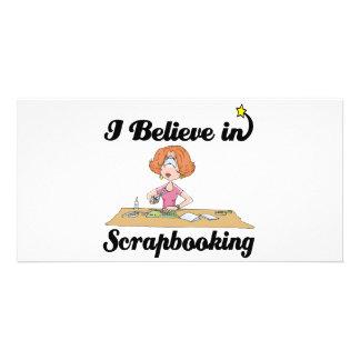 i believe in scrapbooking custom photo card