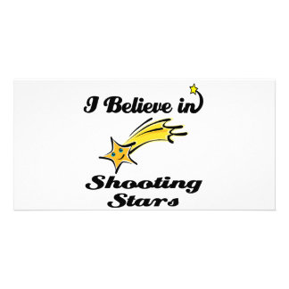 i believe in shooting stars picture card