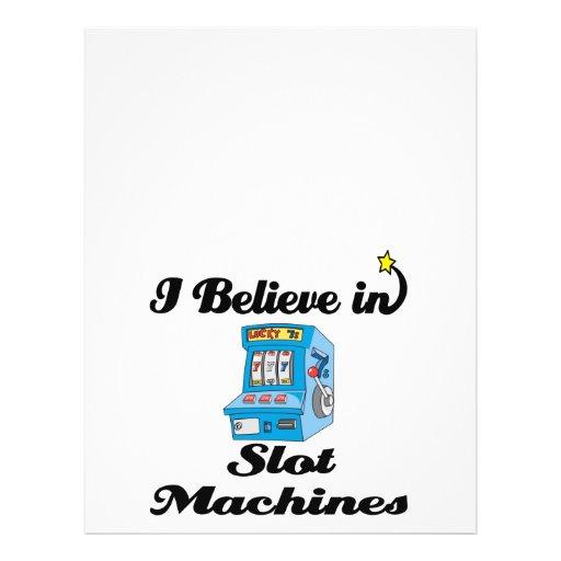 i believe in slot machines flyer